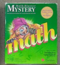 Math Blaster Mystery- IBM-PC  - Rare -  Boxed  - 1991 - Big Box vintage floppy
