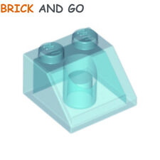 LEGO x 4 / 6227 - 6070495 Brique Toit (transparent) Roof Brick 2x2 45° NEUF NEW