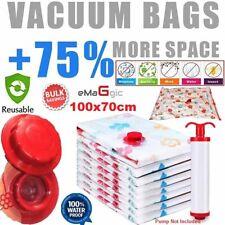4 x LARGE JUMBO STRONG VACUUM STORAGE BAGS SPACE SAVER BAG,VACUM COMPRESSION BAG