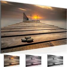Wandbilder  XXL Modern Wohnzimmer - Sonnenuntergang  Beige - Schlafzimmer Bilder