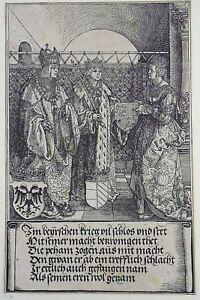 Albrecht Dürer (1471-1528) Emperor Maximilian & Mary woodcut Triumphal Arch 1522