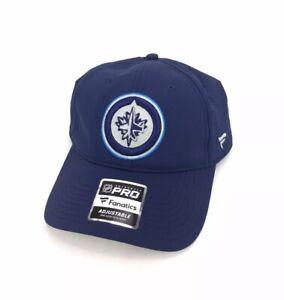NEW Fanatics Winnipeg Jets Authentic Pro Strapback Clutch Mens Hat Cap Blue NHL