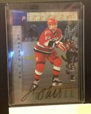 1997/98 Pinnacle Be a Player - SP Auto Silver Jeff O'Neill #130 Hurricanes