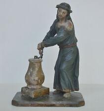 """Christus an der Geisselsäule"", 18. Jh., Holz geschnitzt, alte Fassung, 22 cm"