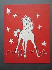 Vintage CHRISTMAS Card Pony & Stars ANNA FORD for Gordon Fraser Gallery