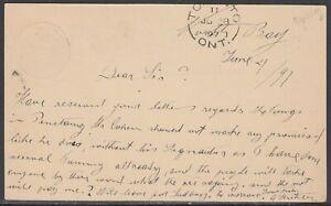 Canada - Jun 28, 1897 Toronto ON Split Ring Cancel on Domestic Card