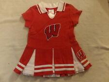 Ncaa Wisconsin Badgers Cheerleader Dress Sz 2T Guc