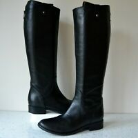 """CLARK`S """"LICORICE POP"""" BLACK LEATHER/LEATHER LINED KNEE HIGH BOOTS UK 4D RP £150"""
