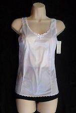 """Nancy King 100% Nylon Wide Strap White Cami Size 38 Length 22"""""""