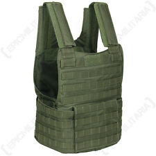 PADDED TACTICAL MOLLE ASSAULT VEST Airsoft Paintball Combat Rig Top Olive Green