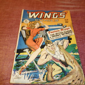 Wings Comics #98 Golden Age Fiction House October 1948 (kf)