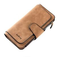 Womens Wallet Genuine Leather Female Long Coin Purse Interior Card Photo Holder