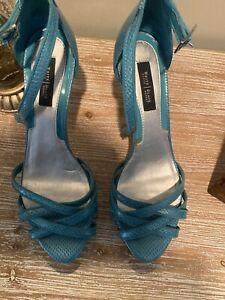 WHBM White House Black Market Womens Criss Peep Toe Heels Shoe Size 9