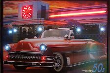 Drive in Diner Automobilia Neon Sign 1954 1955 Chevy mancave garage Nifty 50's