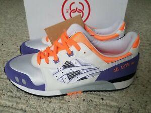 Asics Gel-Lyte III OG Purple White Orange Men's Size 9.5 1191A266-102 New w Box