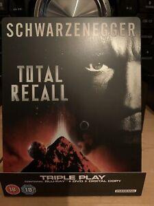 Total Recall Blu Ray Dvd Steelbook Like New