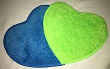 prowin 2 x Sweetheart grün/blau, je 14 cm x 14 cm, neu