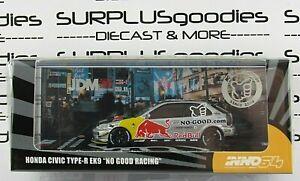 INNO64 1:64 2021 Release Red Bull HONDA CIVIC Type-R EK9 No Good Racing JDM11