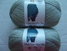 Golden yellow lot of 2 Loops/&Threads Woolike super fine yarn 678 yds each