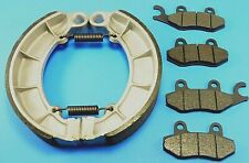 Front Pads & Rear Brake Shoes For KAWASAKI Bayou 400 KLF400 4x4 (1993-99)