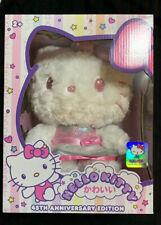 Sanrio Hello Kitty 45th Anniversary Plush Trinket Pink & White Super Soft