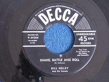 Bill Haley/Shake Rattle & Roll-A.B.C. Boogie/1954 Rock/Decca 9-29204/EX to M-