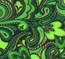 BENARTEX KANVAS by  GREEN GRETA LYNN HOLIDAY PAISLEY CM-6456 FABRIC BTY
