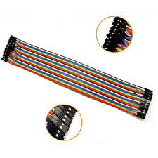 40Pcs 30cm 2.54mm Dupont Wire Color Jumper Cable Female to Female for Arduino