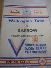26/12/1980 programma Rugby League: Sindaco Città V Barrow modifiche DEL TEAM ()
