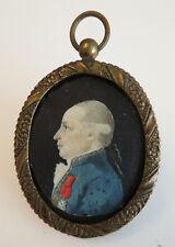 MINIATURE du début du XIXè. Homme à la LEGION D'HONNEUR. Cadre.