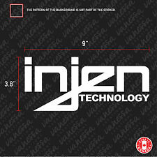 2x INJEN TECHNOLOGY RACING turbo sticker vinyl car decal