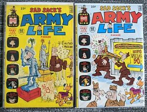 Sad Sack's Army Life #38 + #39 *TWO ISSUE LOT* (Harvey 1972) War Humor Comic