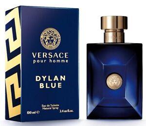 Versace Pour Homme Dylan Blue For Men Eau de Toilette 3.4 oz ~ 100 ml EDT Spray