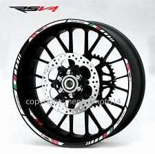 Aprilia Racing RSV4 wheel decals rsv stickers set rim stripes rsv-r Laminated