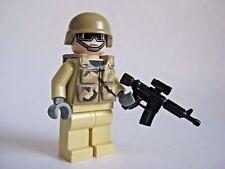 Lego DESERT COMMANDO Custom Minifigure -Brickarms, Brickforge- Military Army