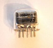 IN-15A 1PCS NEW NIXIE TUBE NOS 100% GARANTY WORKING IN12 IN-12A IN-12B IN15A