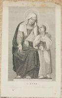 SANT'ANNA ANNA IMMAGINETTA HOLY IMAGE BOLOGNA DAL SALVARDI HOLY IMAGE 1870 CIRCA