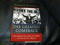PATRICK J. BUCHANAN Autographed The Greatest Comeback Book Nixon