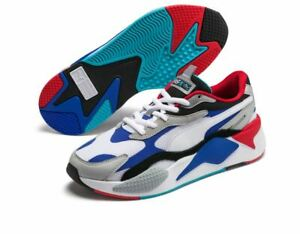 Puma RS-X3 Puzzle Fashion Sneakers,Shoes 37157005 Men's White-Dazzling Blue-High
