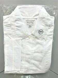 Jewish Lace Kittel with Pleats White Robe & Belt Cotton Decorated by Malchut XXL