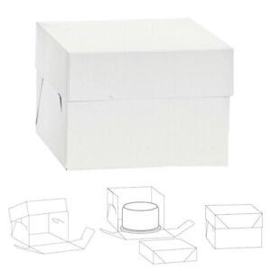🍰 SCATOLA PORTA TORTA IN CARTONE BOX 40,5x40,5x37,5 PER TRASPORTO DOLCI DECORA