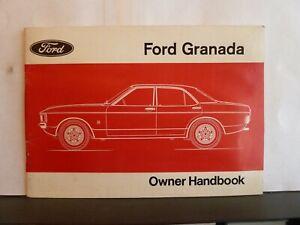 FORD GRANADA OWNER'S HANDBOOK 1975