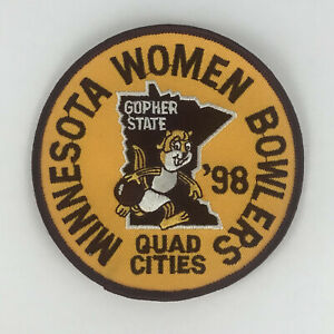 """Minnesota Women Bowlers 98 Quad Cities Gopher State Sew On Patch 4"""" Sports"""