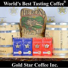 4 lbs Jamaica Jamaican Blue Mountain & Hawaii Kona Coffee - DARK ROAST Combo