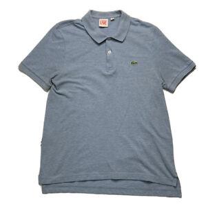 Lacoste LIVE Men's Short Sleeve Polo Shirt Blue Size 4