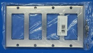 Switch Plate Lewis Quadruple Outlet, GFCI, Brushed Nickel NWT
