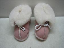 PINK MINNETONKA MOCCASIN LINED SOFT SOLE BOOTS SLIPPERS INFANT TODDLER SIZE 3