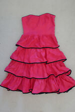 "KATE HURST ""RARA"" Pink Tiered Dress Cotton Size"