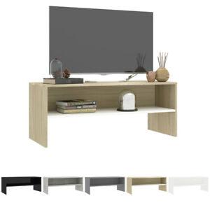 Modern TV Cabinet Stand 1 Shelf Storage Shelves Table 100x40x40 cm Chipboard