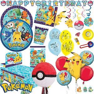 POKEMON - Tischgeschirr Deko Mitgebsel zu Pokémon Kindergeburtstag Mottoparty